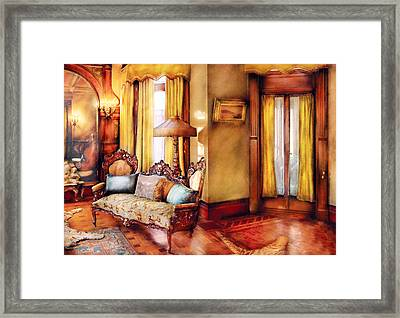 Furniture - Chair - The Queens Parlor Framed Print by Mike Savad