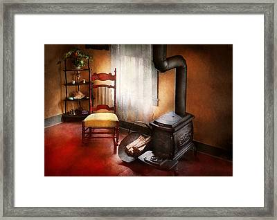 Furniture - Chair - Where She Spent Most Of Her Days Framed Print by Mike Savad
