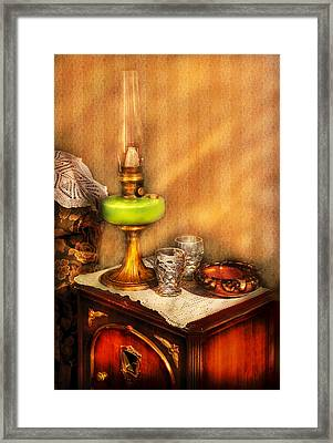 Furniture - Lamp - The Gas Lamp Framed Print by Mike Savad