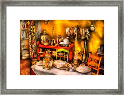 Furniture - Table - Our First Apartment Framed Print by Mike Savad