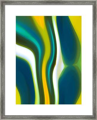 Abstract Tide 2 Framed Print by Amy Vangsgard