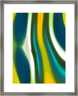 Abstract Tide 1 Framed Print by Amy Vangsgard
