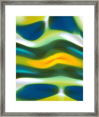 Abstract Tide 3 Framed Print by Amy Vangsgard