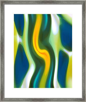 Abstract Tide 4 Framed Print by Amy Vangsgard