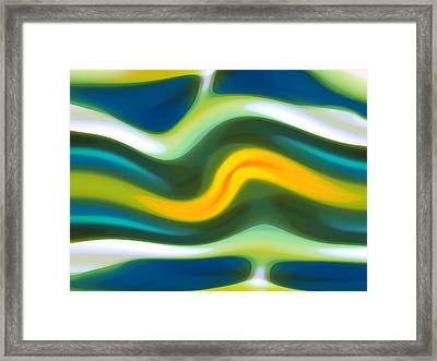 Abstract Tide 5 Framed Print by Amy Vangsgard
