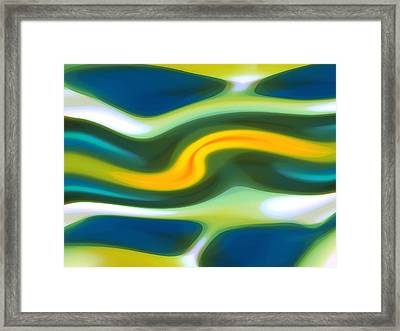 Abstract Tide 6 Framed Print by Amy Vangsgard