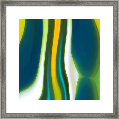 Abstract Tide 7 Framed Print by Amy Vangsgard