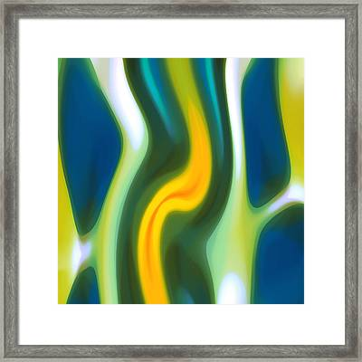 Abstracy Tide 8 Framed Print by Amy Vangsgard