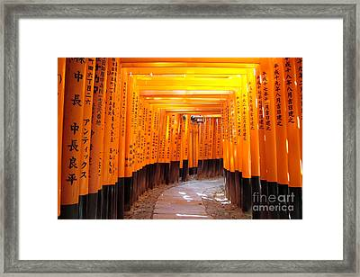 Fushimi Inari Framed Print by Delphimages Photo Creations