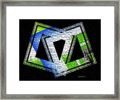 Fusion In Geometric Art Framed Print by Mario Perez