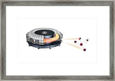 Fusion Reactor, Artwork Framed Print by Science Photo Library