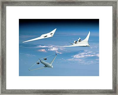Future Green Aircraft Framed Print by Nasa