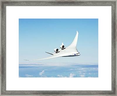 Future Hybrid Aircraft Framed Print by Nasa/boeing