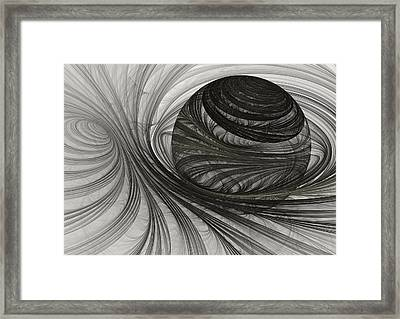 Future Sphere Framed Print by Martin Capek