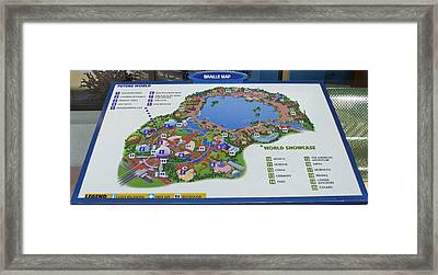 Future World Map Walt Disney World Digital Art Framed Print by Thomas Woolworth