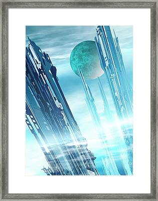Futuristic City Framed Print by Victor Habbick Visions