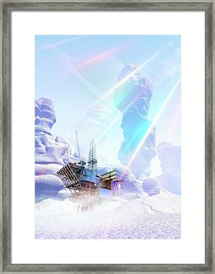 Futuristic Mine Framed Print by Victor Habbick Visions