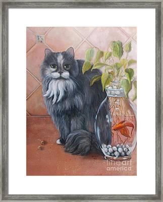 Fuzz And Homer Framed Print by Marlene Book