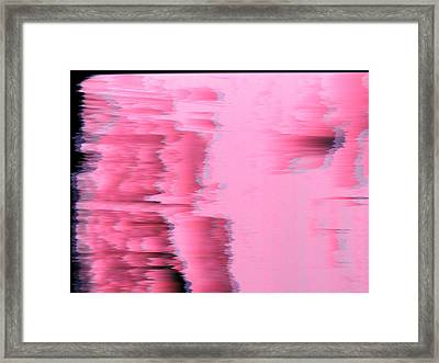 Fuzzy Pink Ice Framed Print by Brendan OMaidian