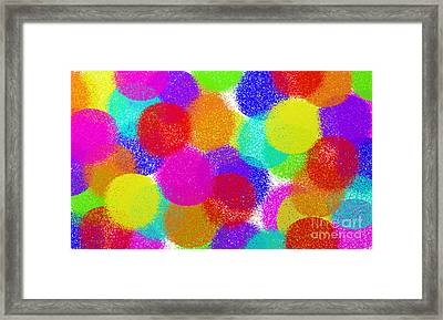 Fuzzy Polka Dots Framed Print by Andee Design