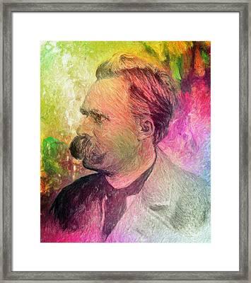 F.w. Nietzsche Framed Print by Taylan Soyturk