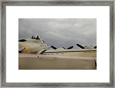 Fyling Fortress B17 Framed Print by M K  Miller
