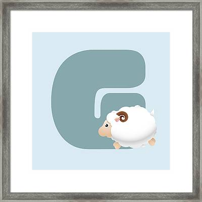 G Framed Print by Gina Dsgn