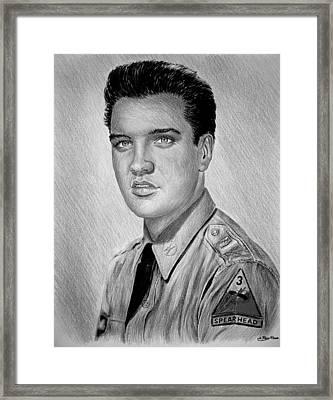 G I Elvis  Framed Print by Andrew Read