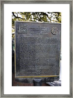 Ga-25-009 The Invention Of The Cotton Gin Framed Print by Jason O Watson