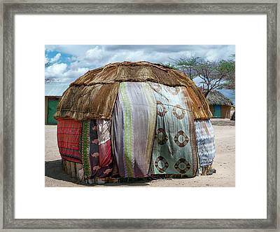 Gabra Hut Framed Print by Babak Tafreshi