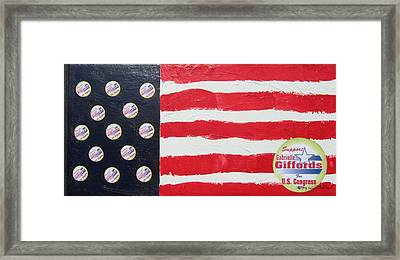 Gabrielle Giffords Stars Framed Print by Jay Kyle Petersen
