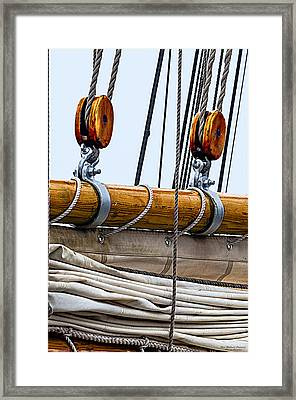 Gaff And Mainsail Framed Print by Marty Saccone