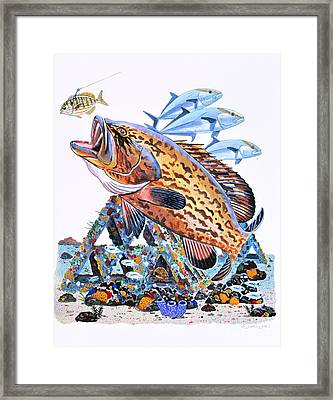 Gag Grouper Framed Print by Carey Chen