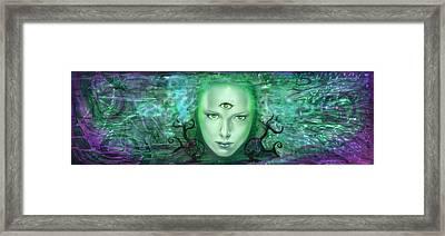 Gaia Framed Print by Luis  Navarro