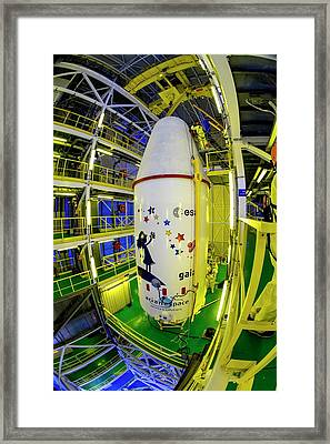 Gaia Space Probe Launcher Framed Print by M Pedoussaut/european Space Agency