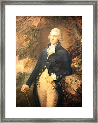 Gainsborough's Francis Bassat -- Lord De Dunstanville Framed Print by Cora Wandel