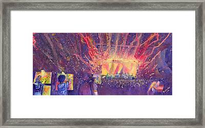Galactic At Arise Music Festival Framed Print by David Sockrider