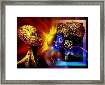 Galactic  Sisters Framed Print by Hartmut Jager