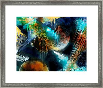 Galactique  Framed Print by Francoise Dugourd-Caput