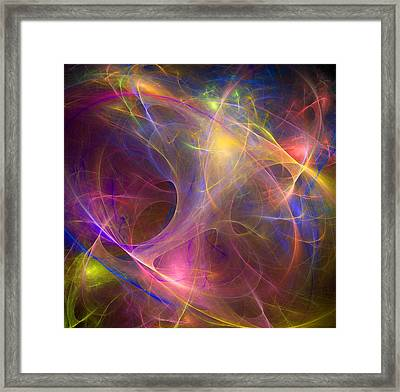 Galaxie Fractale -01 Framed Print by RochVanh