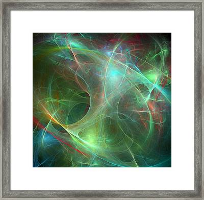 Galaxie Fractale -02 Framed Print by RochVanh