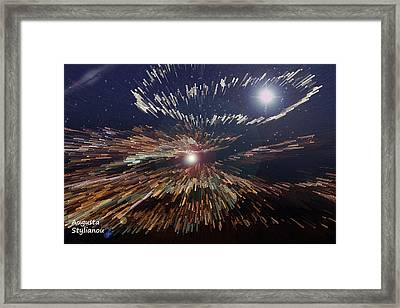 Galaxies Light Framed Print by Augusta Stylianou