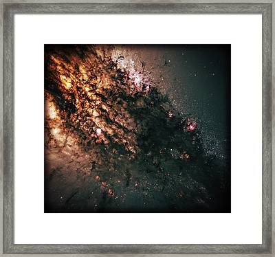 Galaxy Centaurus A Framed Print by The  Vault - Jennifer Rondinelli Reilly