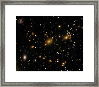 Galaxy Cluster Abell 370 Framed Print by Nasa/esa/stsci/hubble Sm4 Ero Team/st-ecf