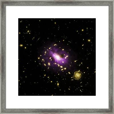 Galaxy Cluster Rx J1532 Framed Print by Nasa/cxc/stanford/j.hlavacek-larrondo Et Al/esa/stsci/m.postman And Clash Team