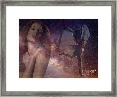 Galaxy Goddess Framed Print by Maureen Tillman