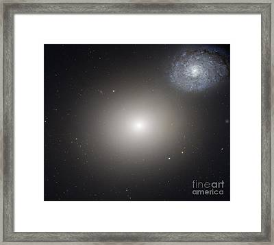 Galaxy Pair Arp 116, Hst Image Framed Print by Nasa/esa/hubble Heritage Team (stsci/aura)