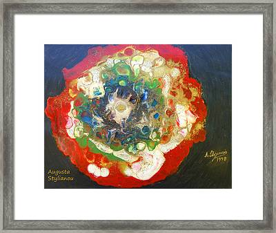 Galaxy With Solar Systems Framed Print by Augusta Stylianou
