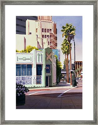 Gale Cafe On Wilshire Blvd Los Angeles Framed Print by Mary Helmreich