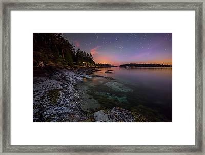 Galiano Shore Framed Print by James Wheeler